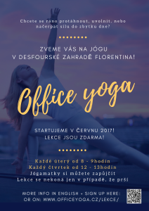 Office yoga poster